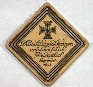 the Teutonic Knights beer coaster